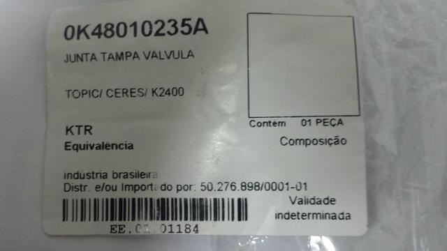 Junta Tampa de Válvula Topic / K2400 / Ceres - DoLove